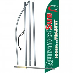 Quiznos Sub Green Swooper Flag Bundle