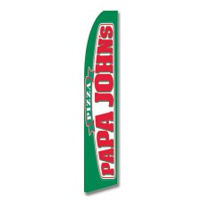 PAPA JOHN'S Pizza Swooper Flag