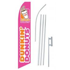 Dunkin' Donuts Swooper Flag Bundle