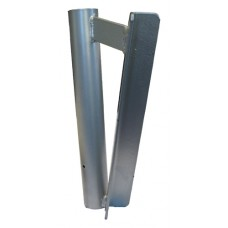 Steel Angled Swooper Flag Pole Post Mount