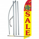 Blow Out Sale Yellow Swooper Flag Bundle