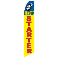 Auto Remote Car Start Extra Wide Swooper Flag