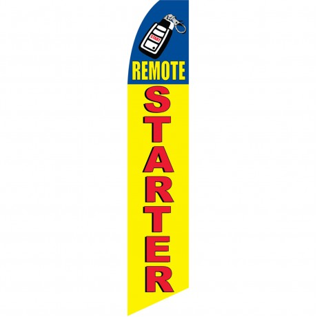 Remote Starter Yellow Swooper Flag