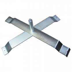 Free Standing X-Base Flag Pole Holder Mount