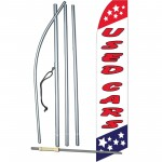 Used Cars Red White Blue Swooper Flag Bundle