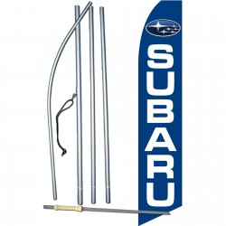 Subaru Blue Swooper Flag Bundle