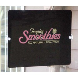 "12"" x 16"" Black Acrylic Window Suction Sign"