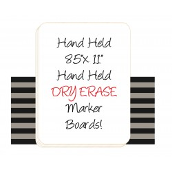"8.5"" x 11"" Hand Held Dry Erase Board Sign"