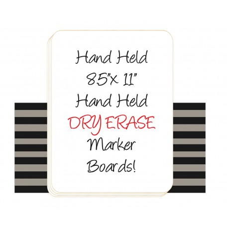 """8.5"""" x 11"""" Hand Held Dry Erase Board Sign"""