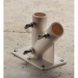 2 Way PVC Flag Pole Holder Bracket