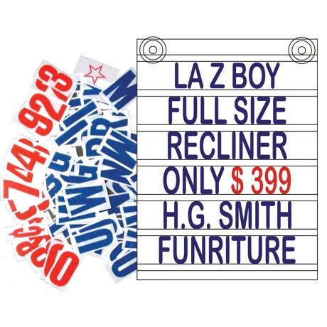"""24"""" x 32"""" Window Mount Letter Board - Blue Letters"""