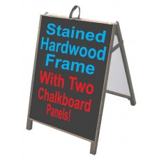 Hardwood A-Frame w/Chalkboard
