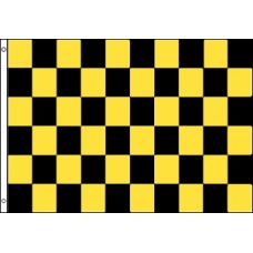 Checkered Black & Yellow 3'x 5' Flag