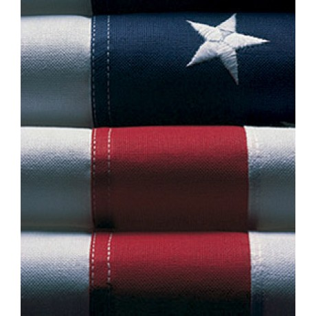 4'x 6' Nylon Glow Embroidered American Flags - BEST!