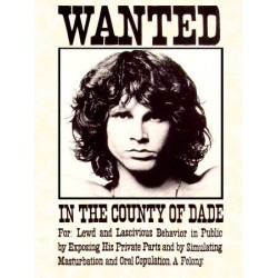 Jim Morrison Wanted Novelty Music 3'x 5' Flag