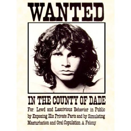 Jim Morrison Wanted Novelty Music 3'x 5' Flag