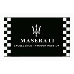 Maserati Black Checkered 3' x 5' Polyester Flag