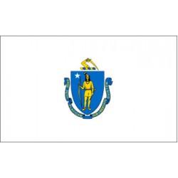Massachusetts 3'x 5' State Flag