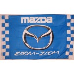Mazda Zoom-Zoom Checkered Automotive 3' x 5' Flag