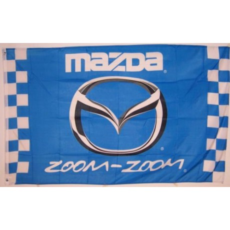 Mazda Zoom-Zoom Checkered Automotive 3' x 5' Flag
