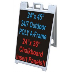 "24"" x 45"" Sidewalk A-Frame - Chalkboard Panels"