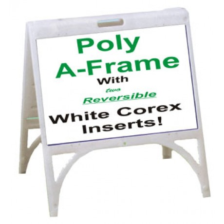Poly A-Frame With White or Black Corex Inserts 1824