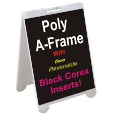 Poly A-Frame With Black Corex Inserts 2228