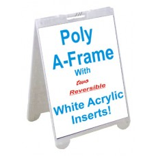 Poly A-Frame With White Acrylic Inserts 2228