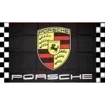 Porsche Black Checkered Automotive 3' x 5' Flag
