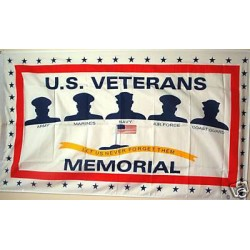 Veterans Memorial 3'x 5' Economy Flag